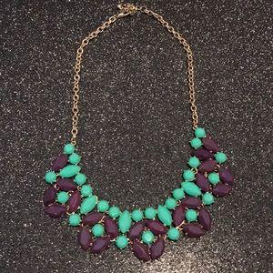 Purple/turq stone necklace